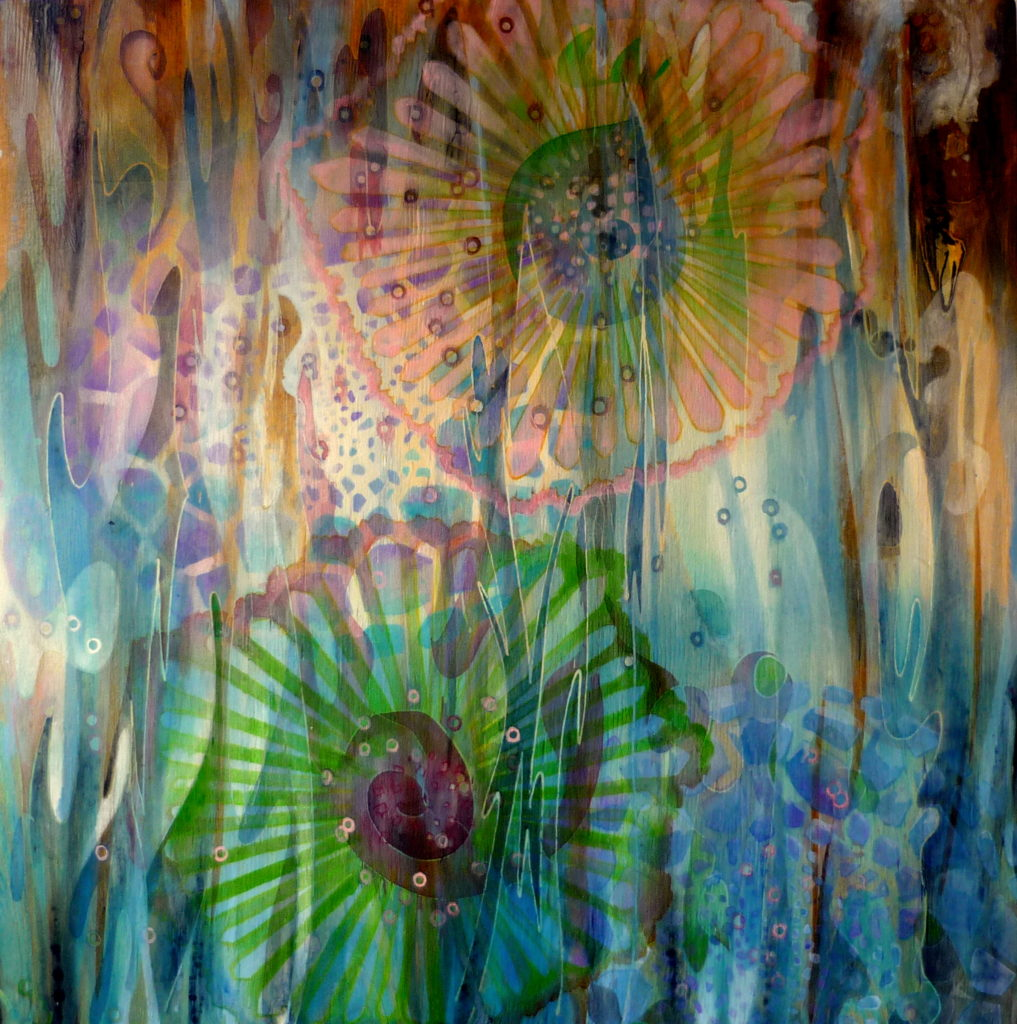 61x61 cm | Acrylic, wood | 2015 | Price 650,- euro