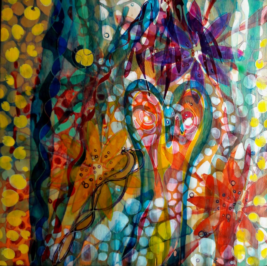 61x61 cm | Acrylic, wood | 2019 | Price 650,- euro