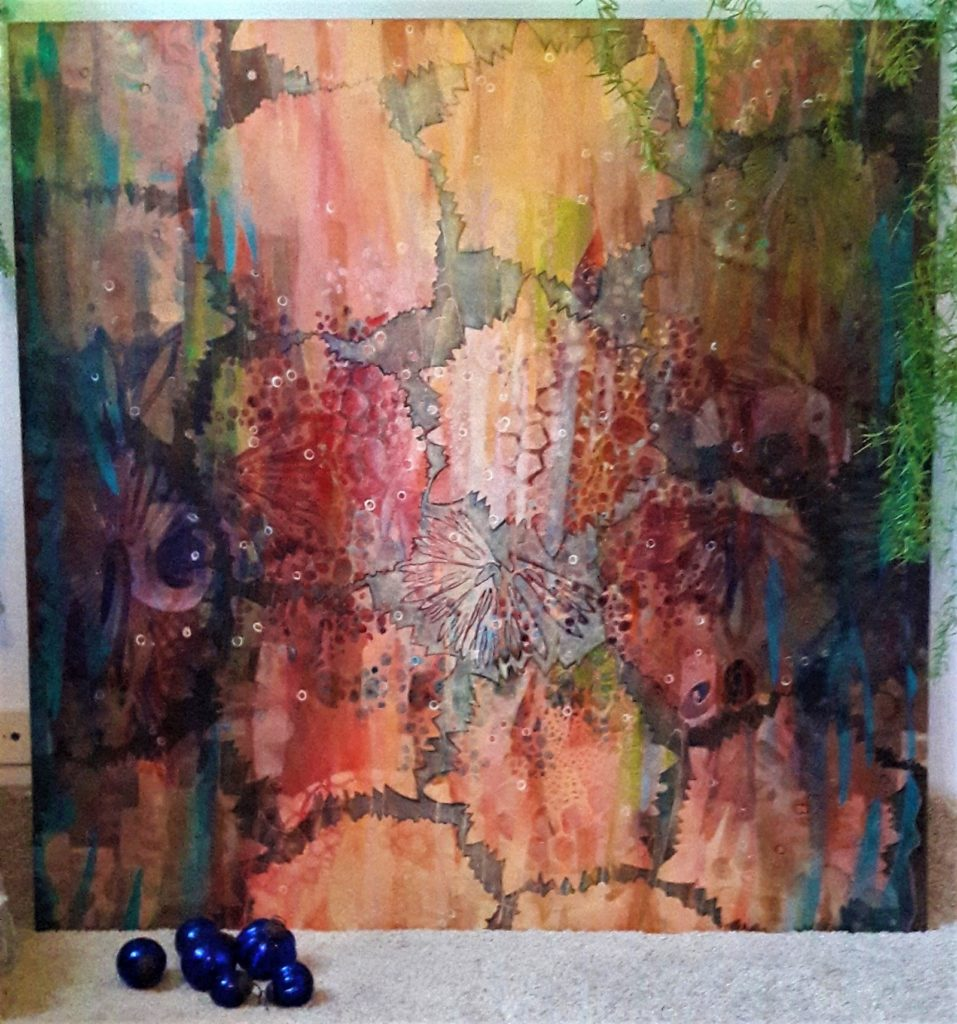 122x122 cm | Acrylic, wood | 2016 | Price 3000,- euro