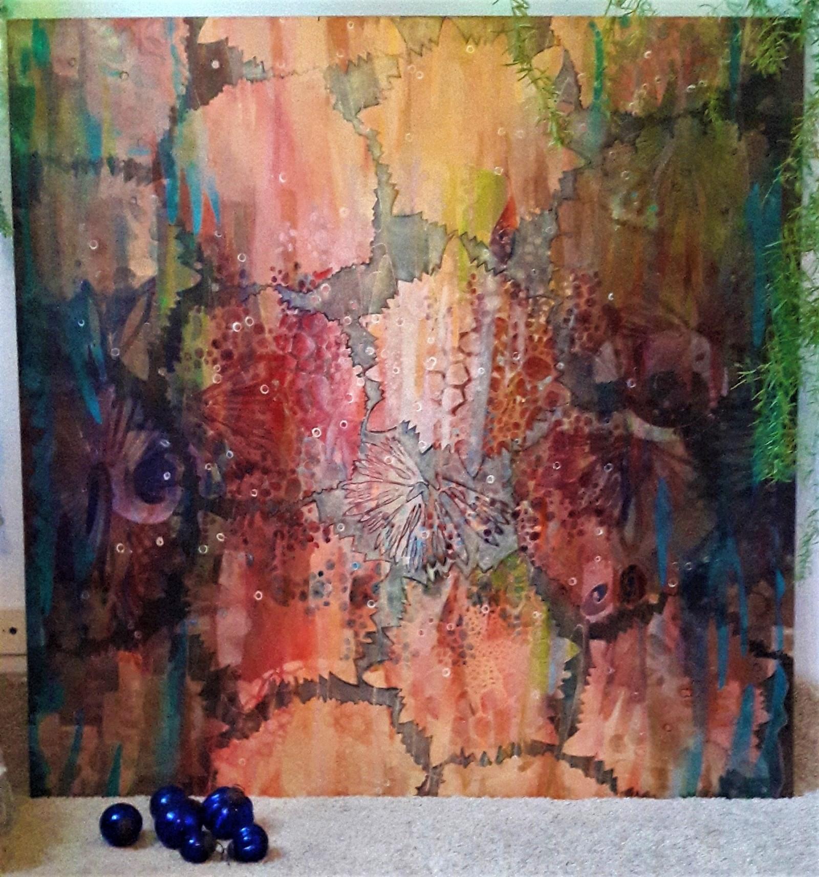 122x122 cm | Acrylic, wood | 2016 | Price 3000,- euro
