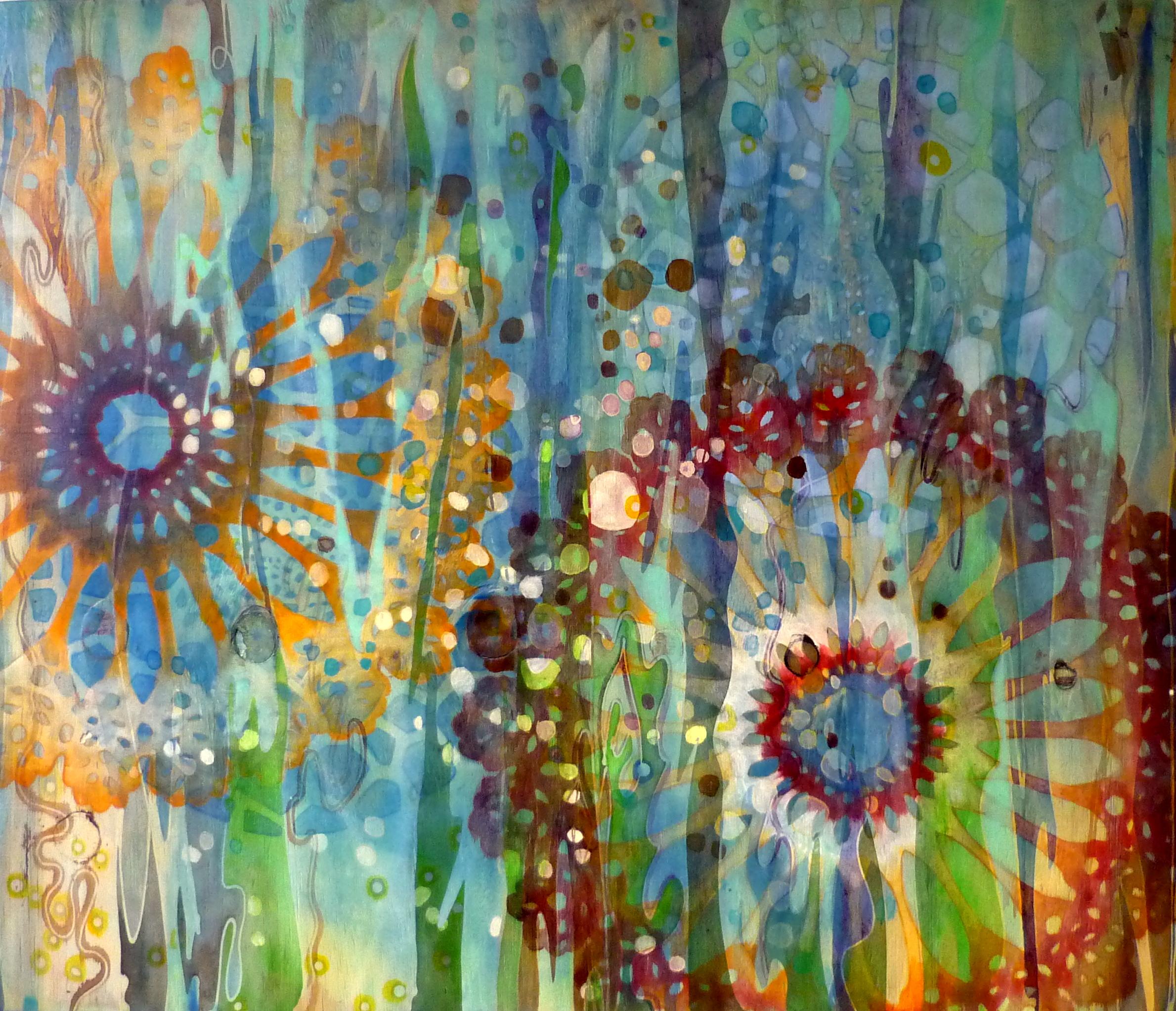 'Under Water' Acrylic wood 72x61 cm 2015 Mohani Art_Jeannette Kommer