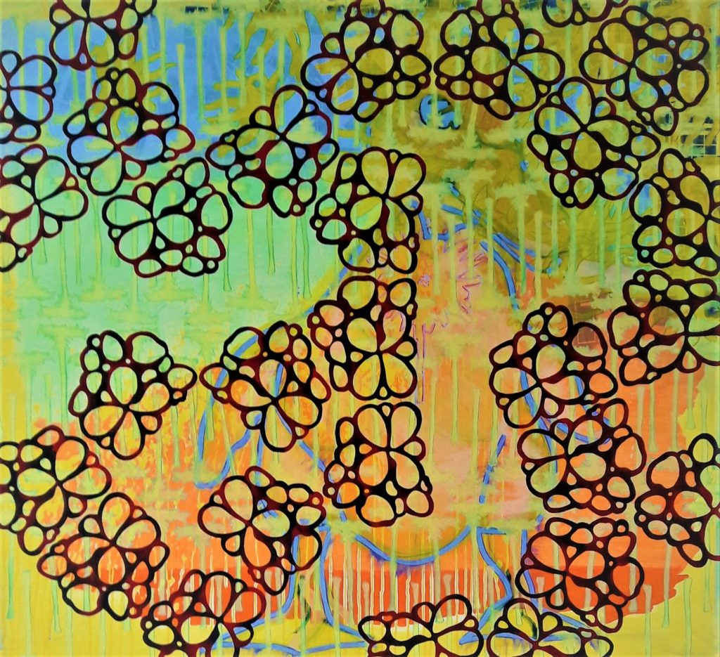 'Fool' 165 x150 cm Acrylic, oil, canvas 2005 Price 4200,- euro (2)