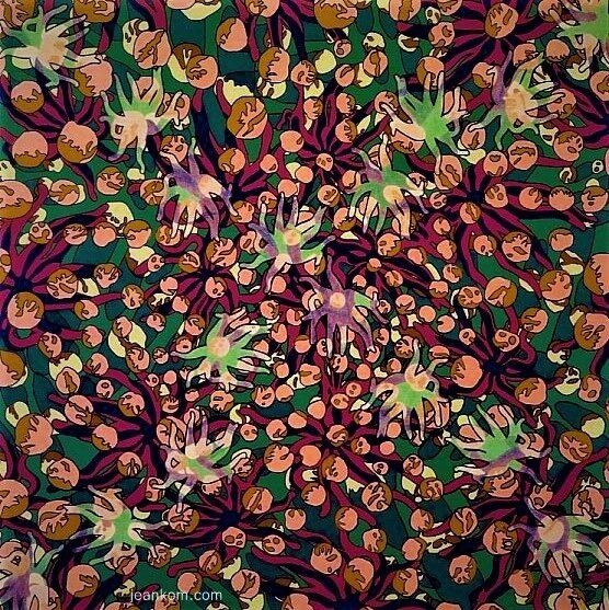 'Starfish' 100x100cm 2002